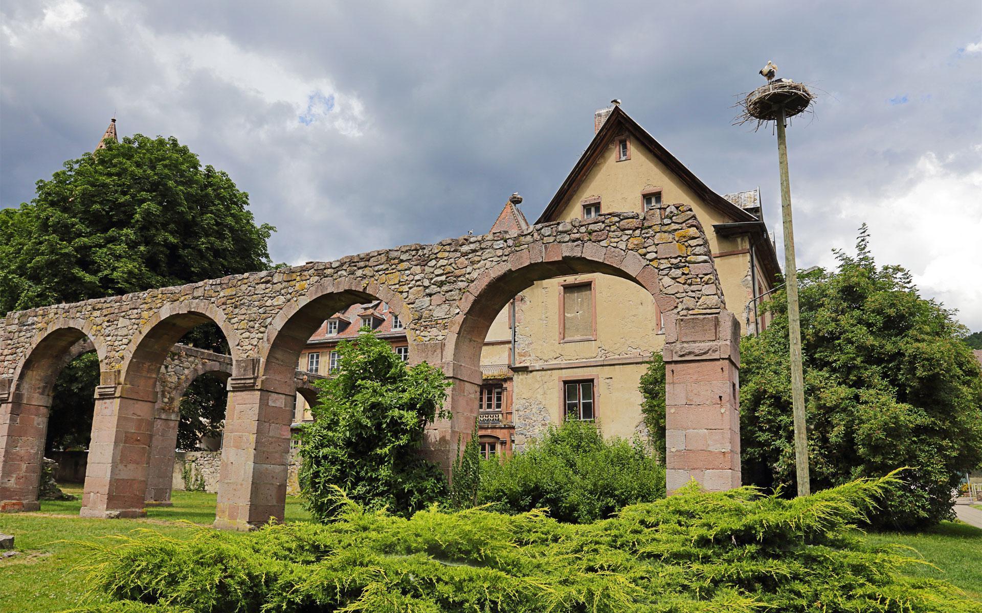 Ruines de l'ancien abbaye Saint-Grégoire à Munster