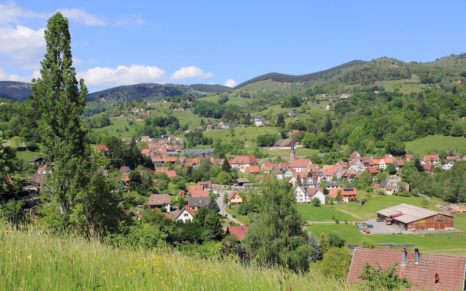 Soultzeren : un des villages de la vallée de Munster